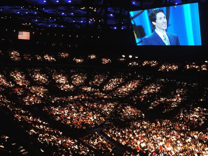 Lakewood Church Osteen Screen Inside