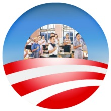 Obama Logo Pledging Kids